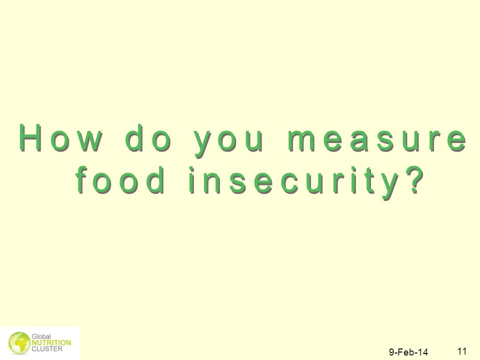 How do you measure food insecurity 27-Mar-17