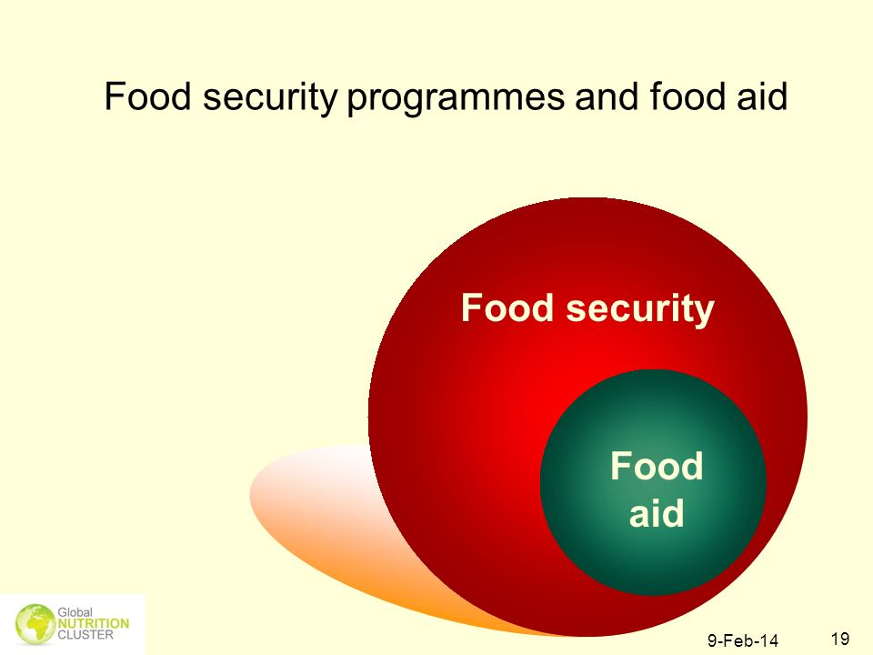 Food security programmes and food aid