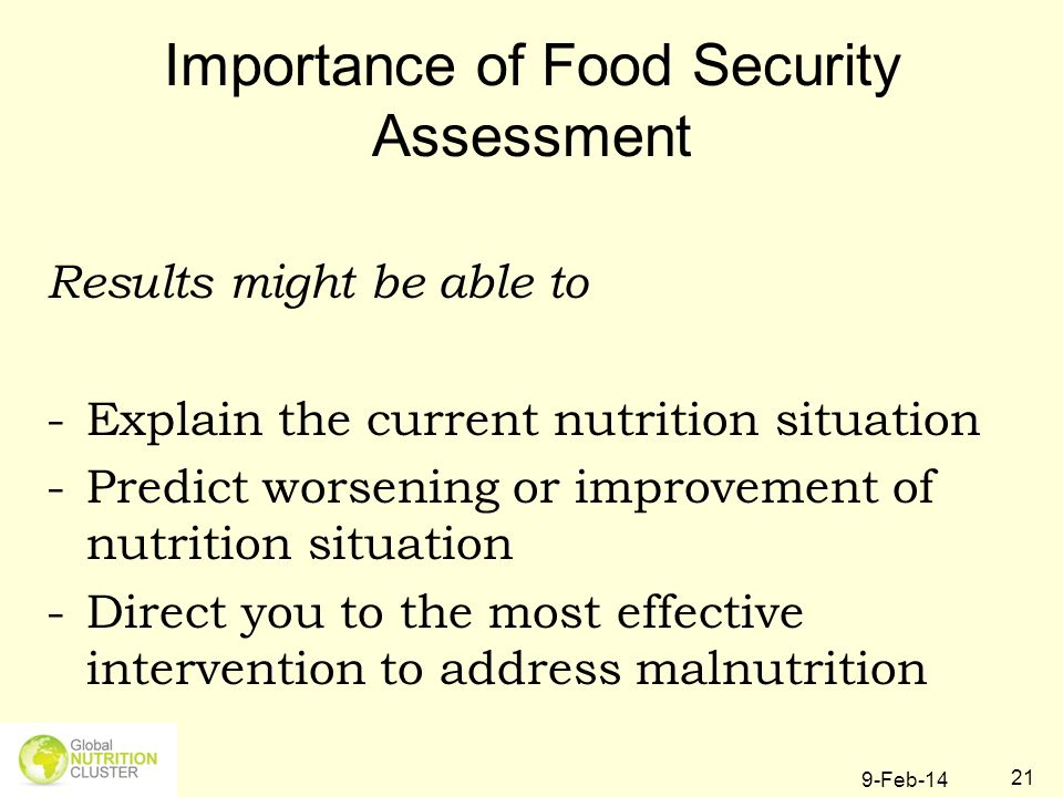 Importance of Food Security Assessment
