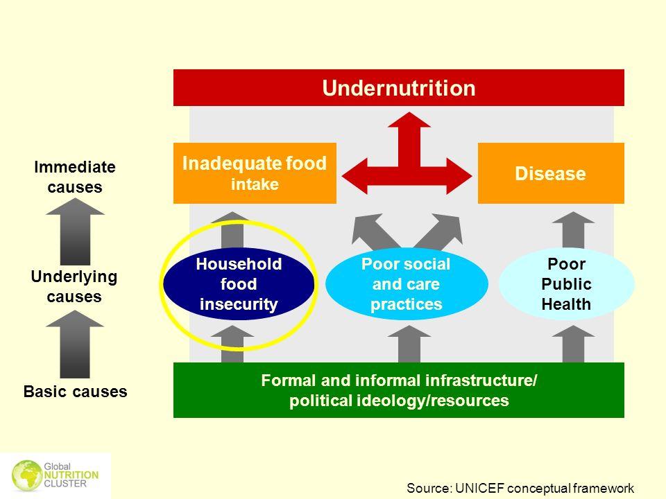 Undernutrition Inadequate food intake Disease Underlying causes
