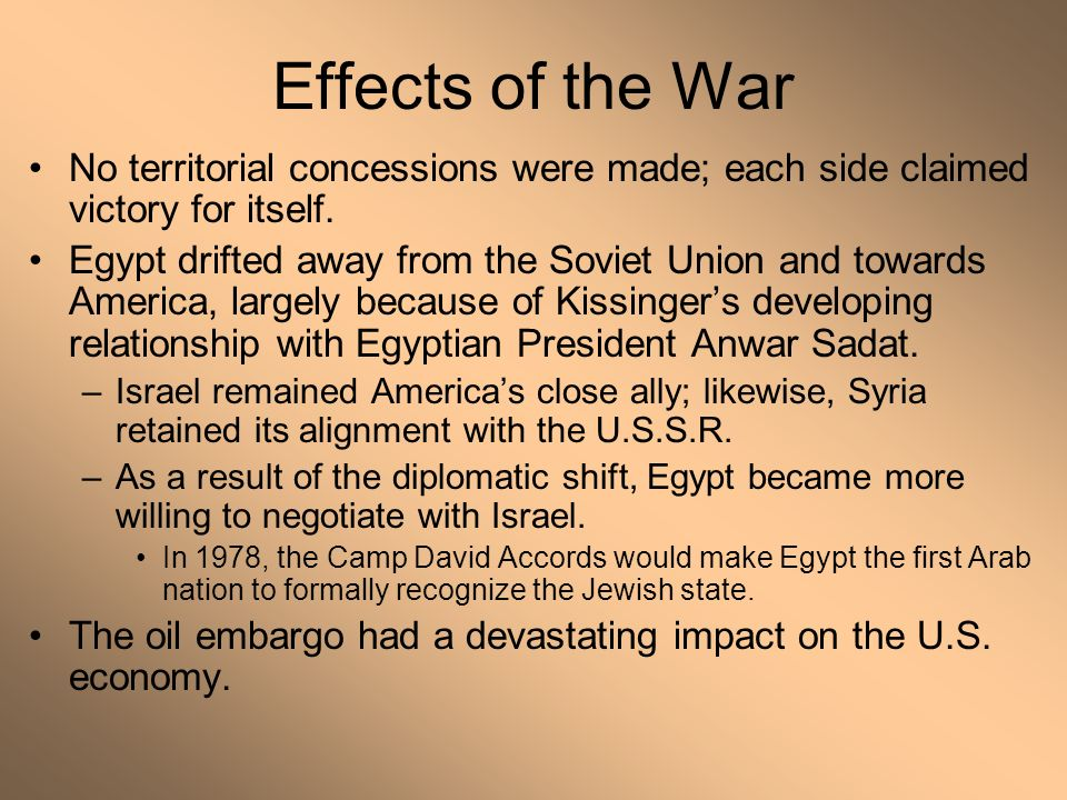 side effects of war