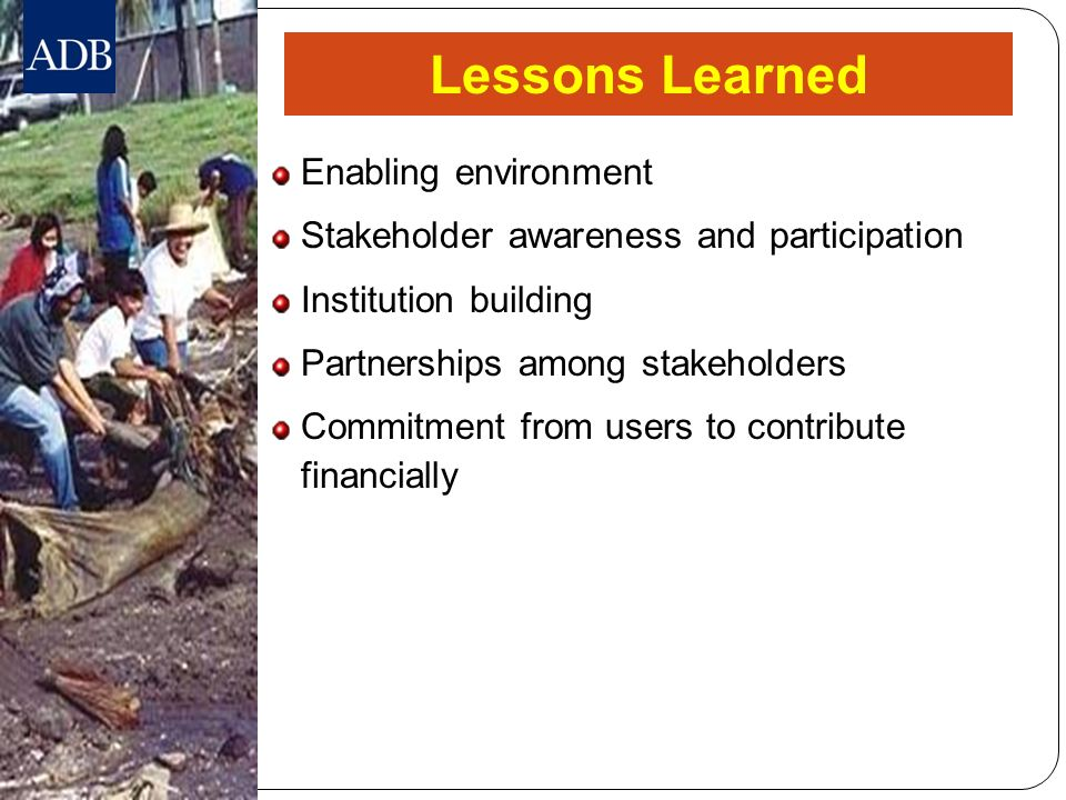 Lessons Learned Enabling environment