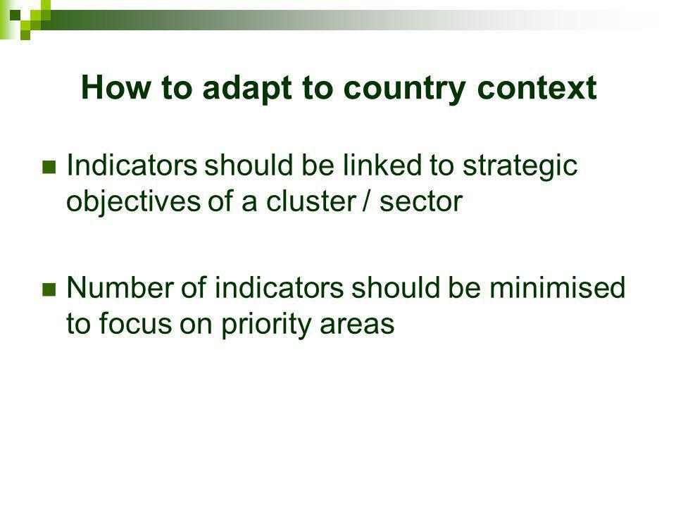How to adapt to country context