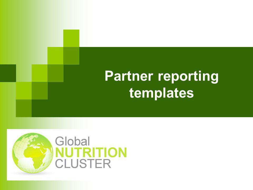 Partner reporting templates