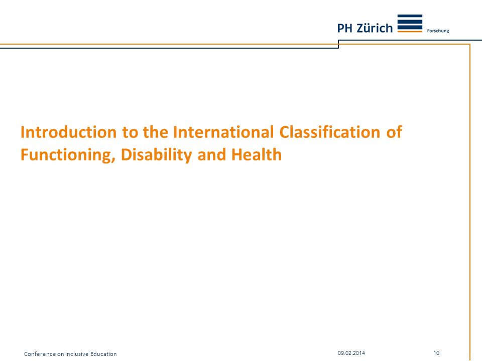 Introduction to the International Classification of Functioning, Disability and Health