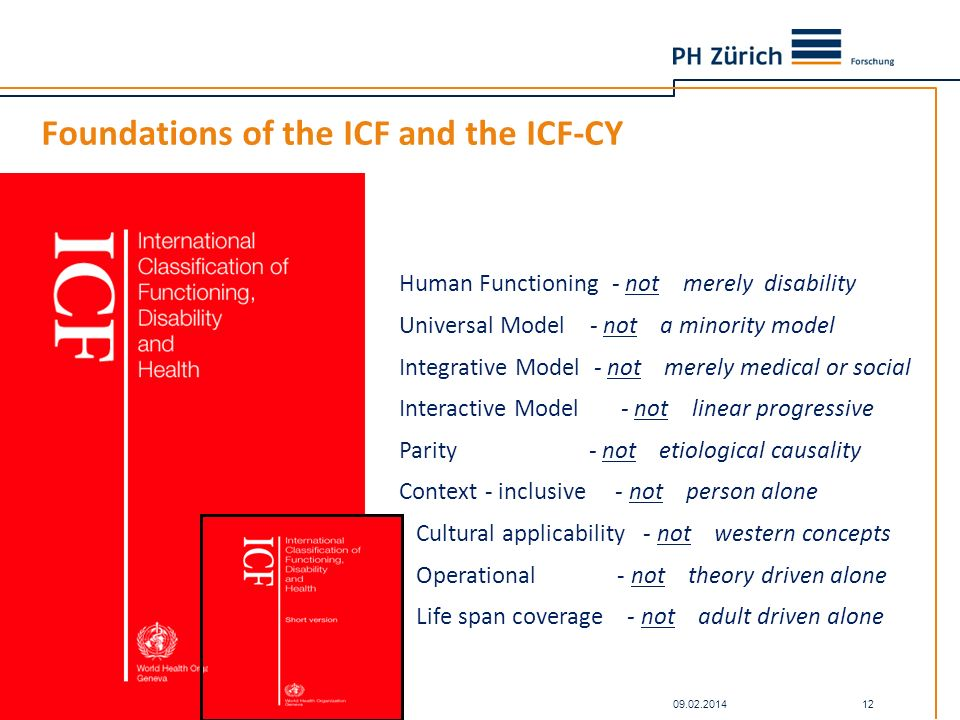 Foundations of the ICF and the ICF-CY