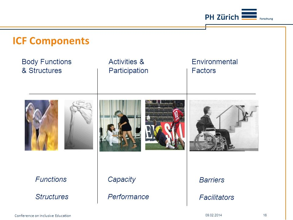 ICF Components Body Functions & Structures Activities & Participation
