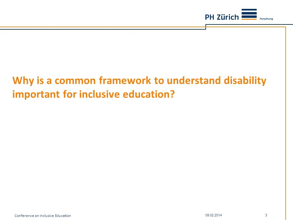 Why is a common framework to understand disability important for inclusive education