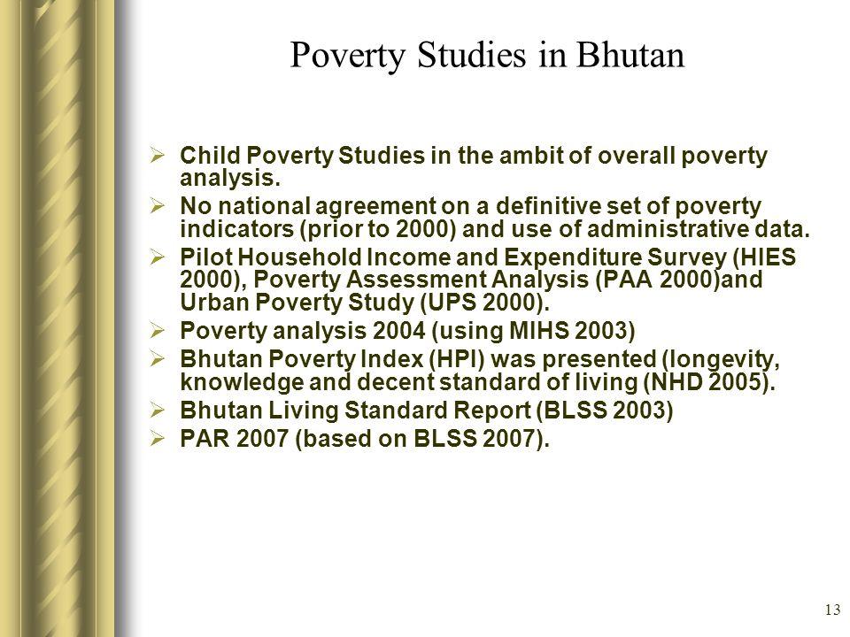 Poverty Studies in Bhutan