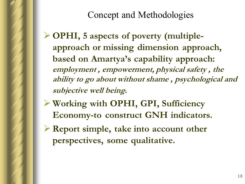 Concept and Methodologies