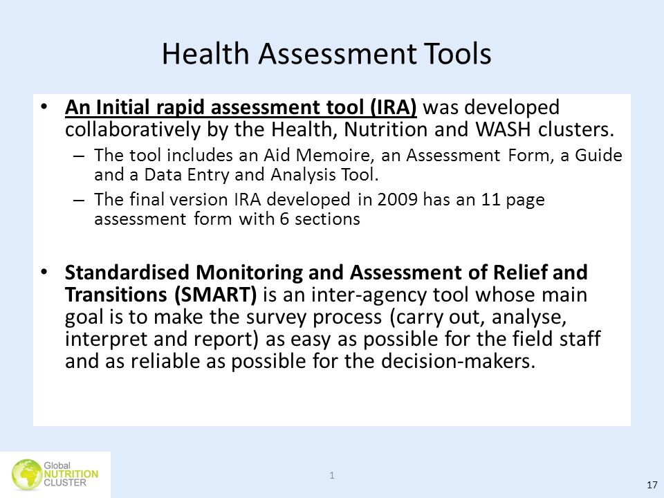 Health Assessment Tools