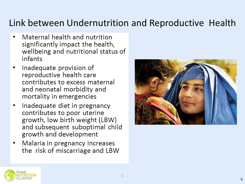 Link between Undernutrition and Reproductive Health
