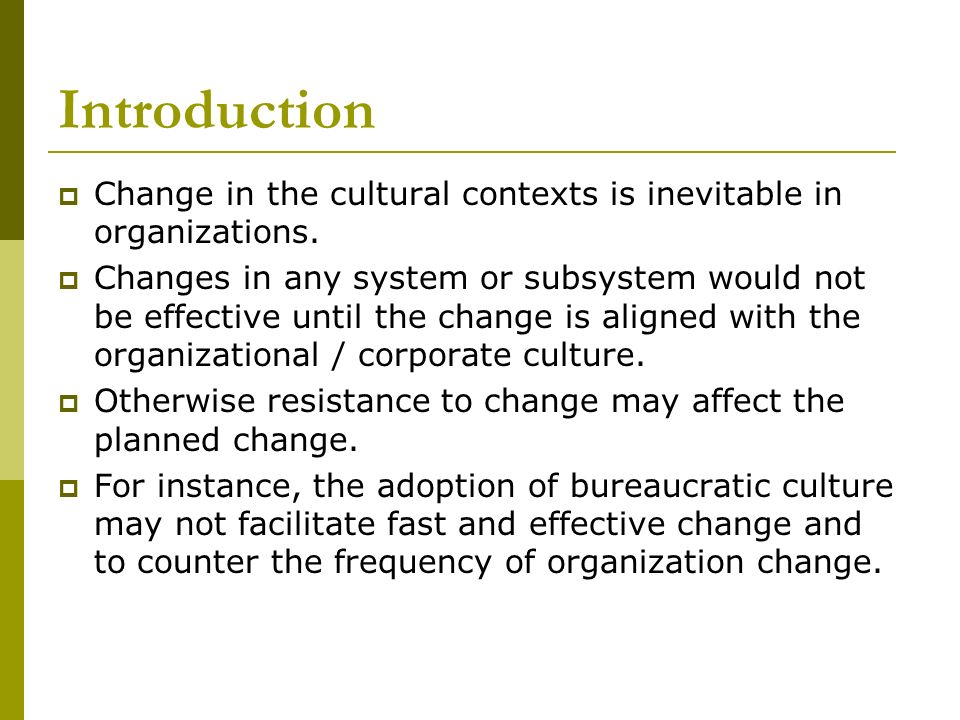 an introduction and a definition of organizational change management Challenges facing change management  introduction today change is constant and organizational leaders who  definition of organizational.