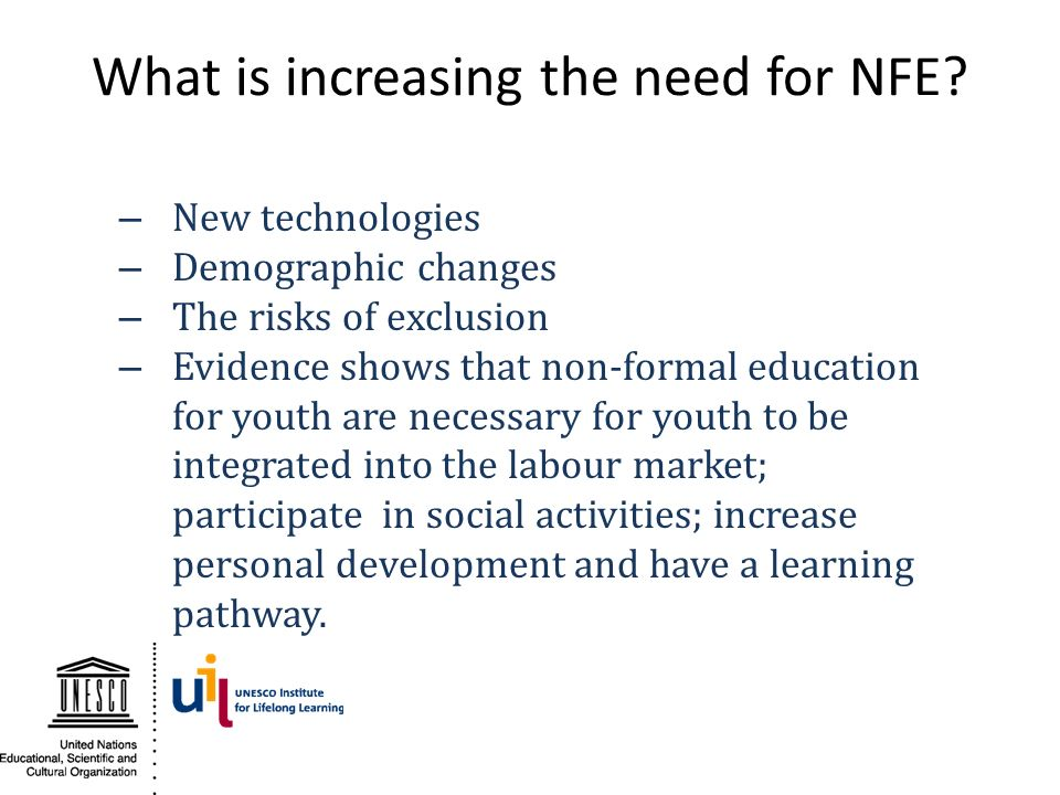 What is increasing the need for NFE