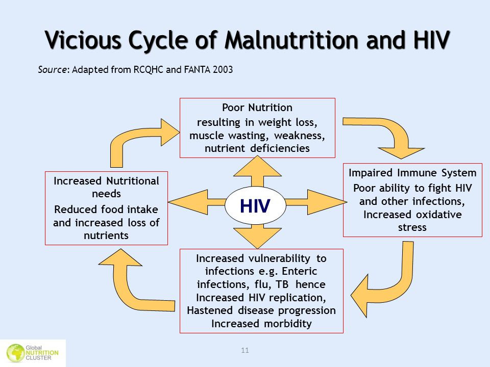 Vicious Cycle of Malnutrition and HIV