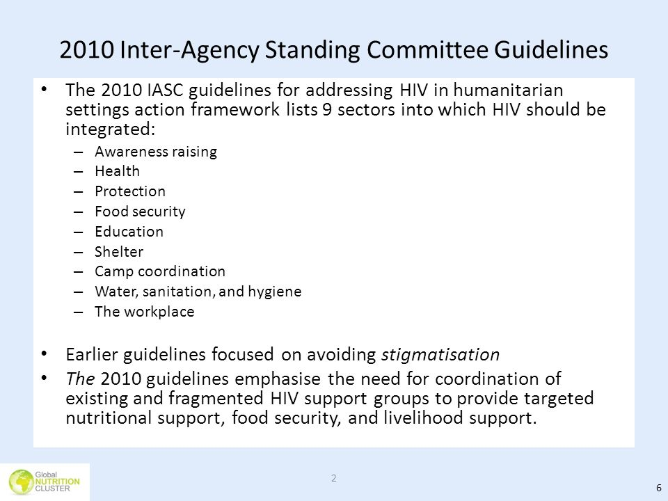 2010 Inter-Agency Standing Committee Guidelines