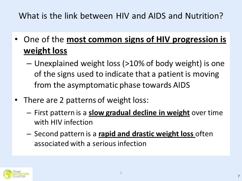 What is the link between HIV and AIDS and Nutrition