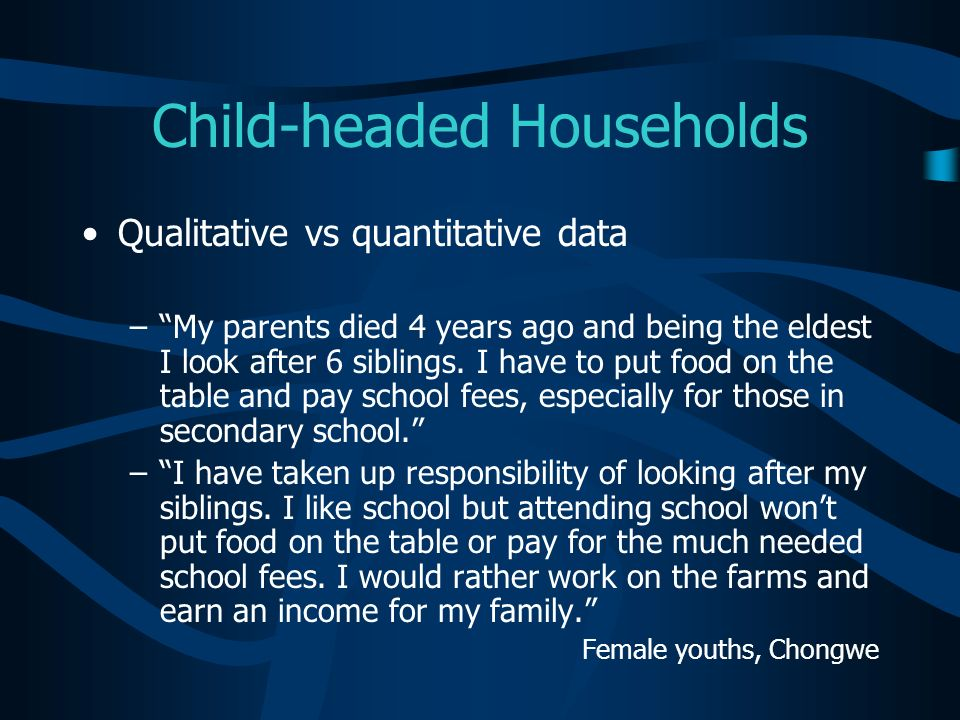 Child-headed Households