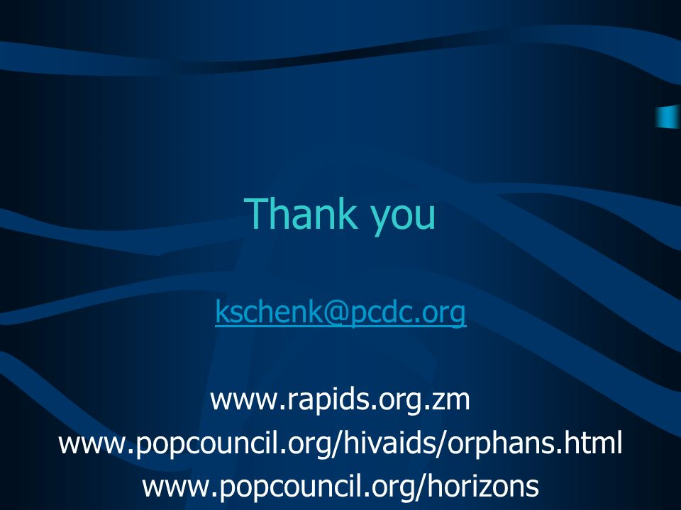 Thank you kschenk@pcdc.org www.rapids.org.zm