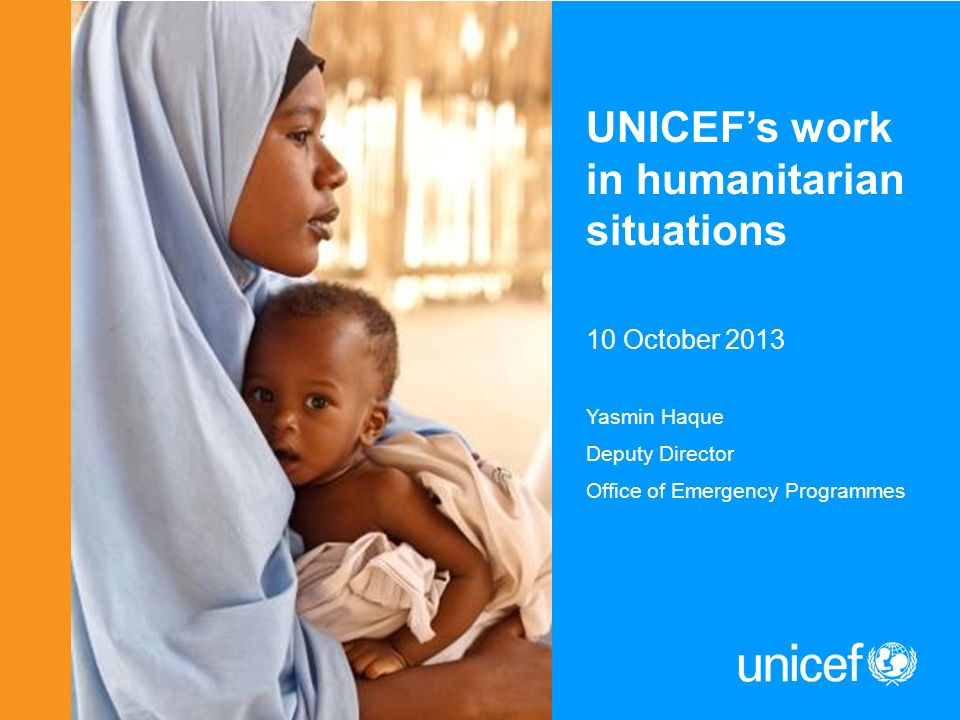 UNICEF's work in humanitarian situations