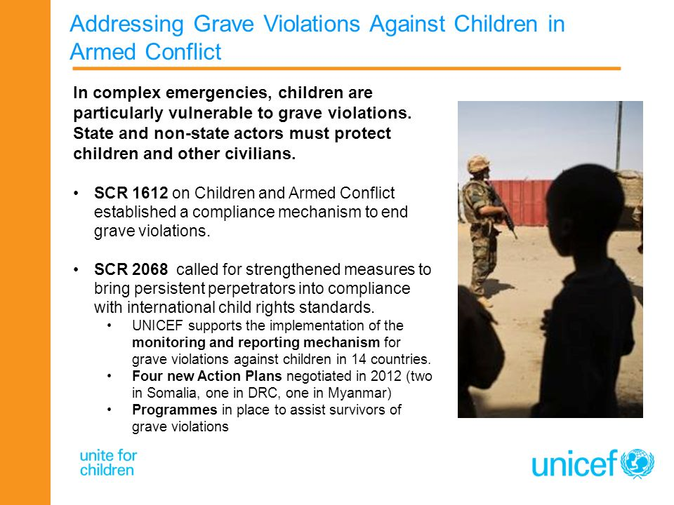 Addressing Grave Violations Against Children in Armed Conflict