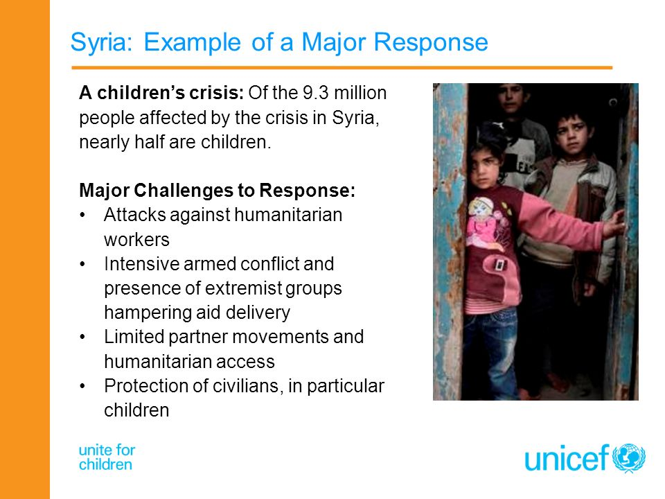 Syria: Example of a Major Response