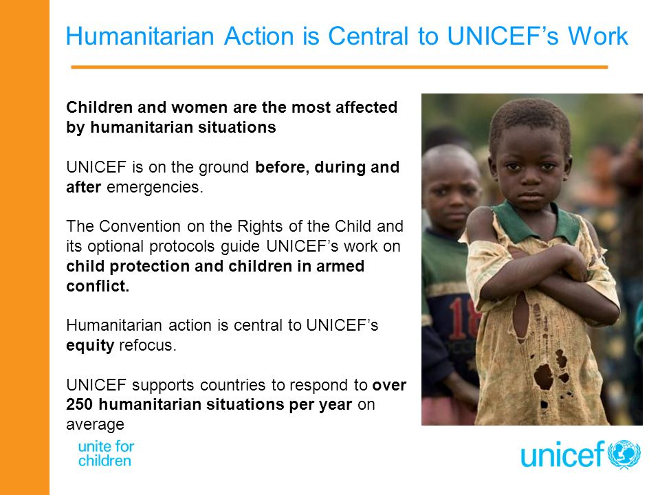 Humanitarian Action is Central to UNICEF's Work