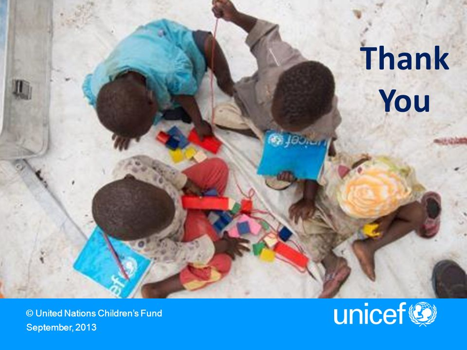 Thank You United Nations Children's Fund 3 United Nations Plaza