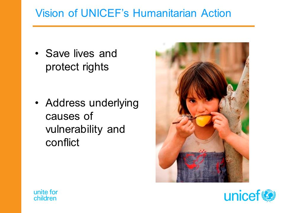 Vision of UNICEF's Humanitarian Action