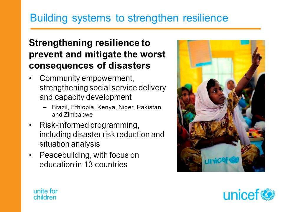 Building systems to strengthen resilience