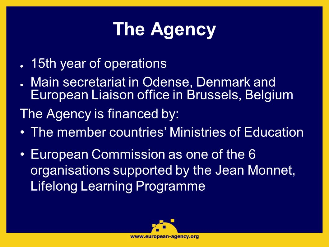 The Agency 15th year of operations