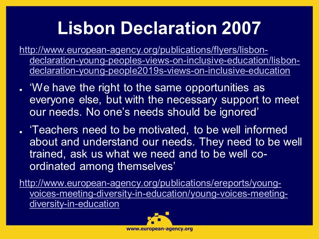 Lisbon Declaration 2007