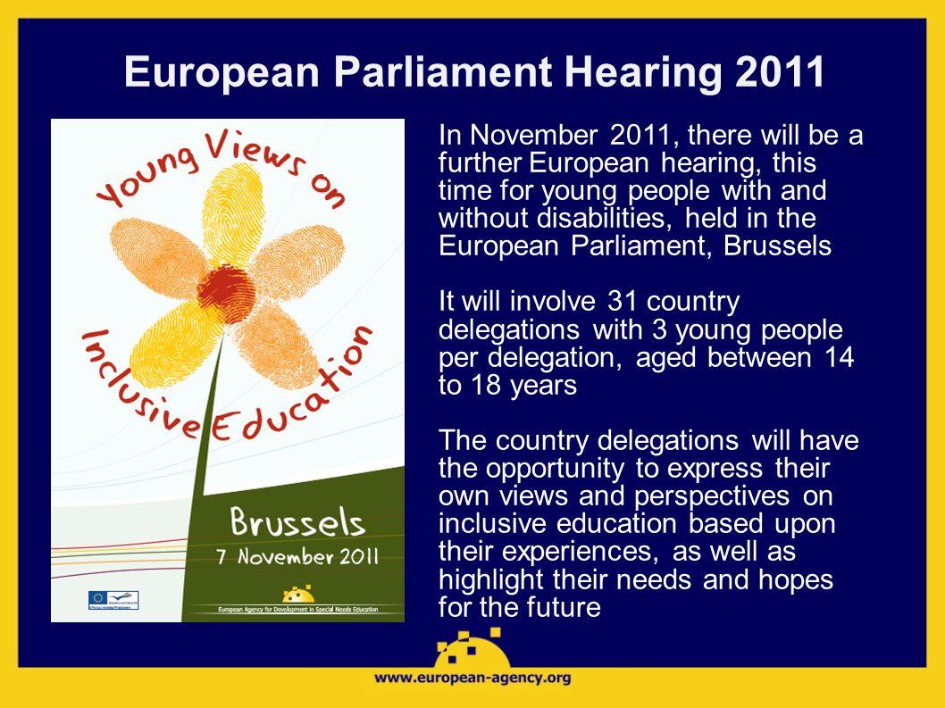 European Parliament Hearing 2011