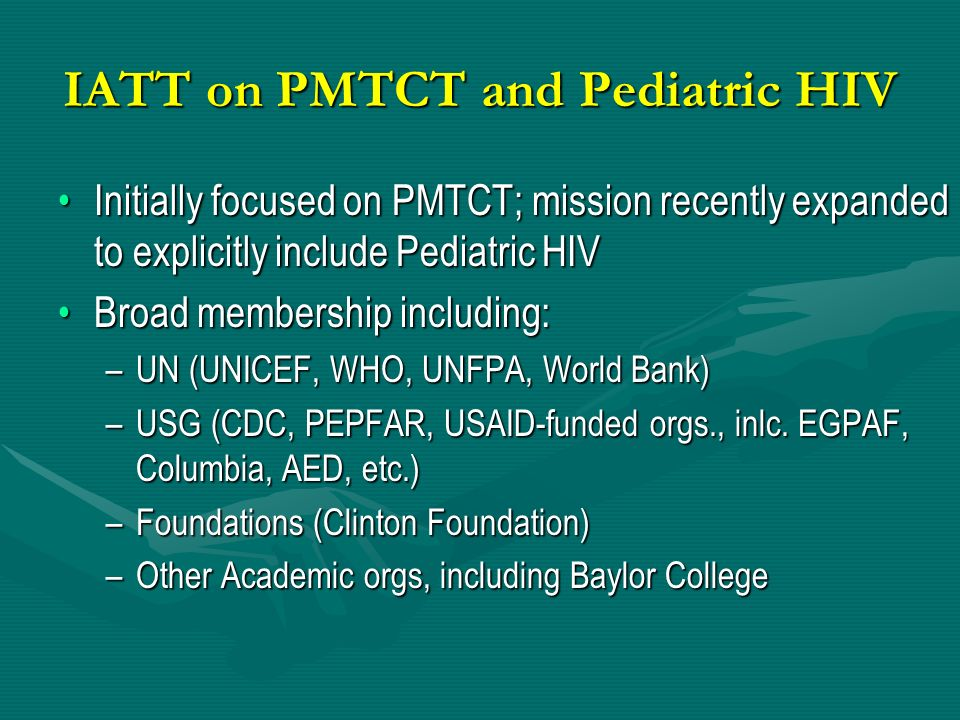 IATT on PMTCT and Pediatric HIV