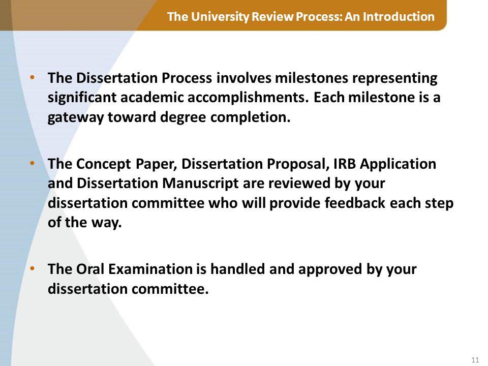 What are dissertation milestones