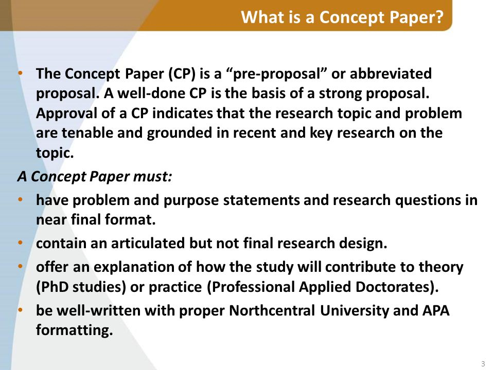 Dissertation concept paper outline