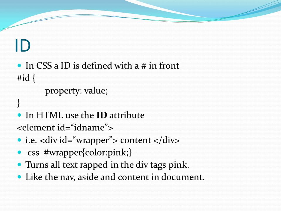 Wdv 101 intro to website development ppt download - Html div value ...