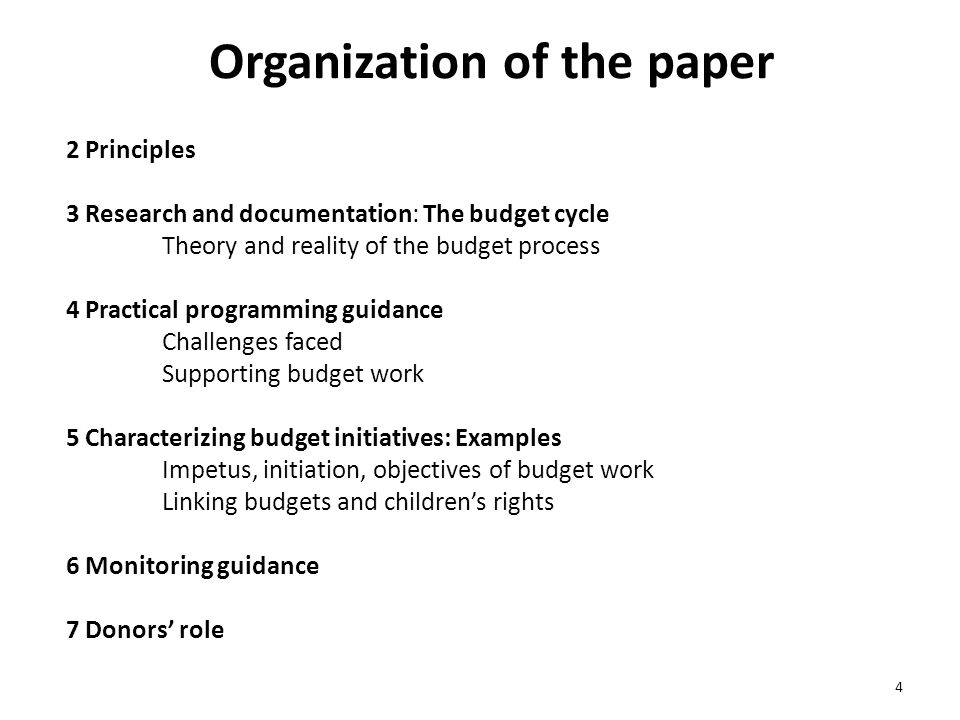 Organization of the paper