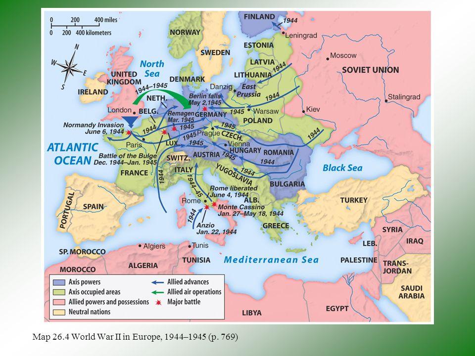 World War II Retaking Europe Ppt Download - Europe map 1944