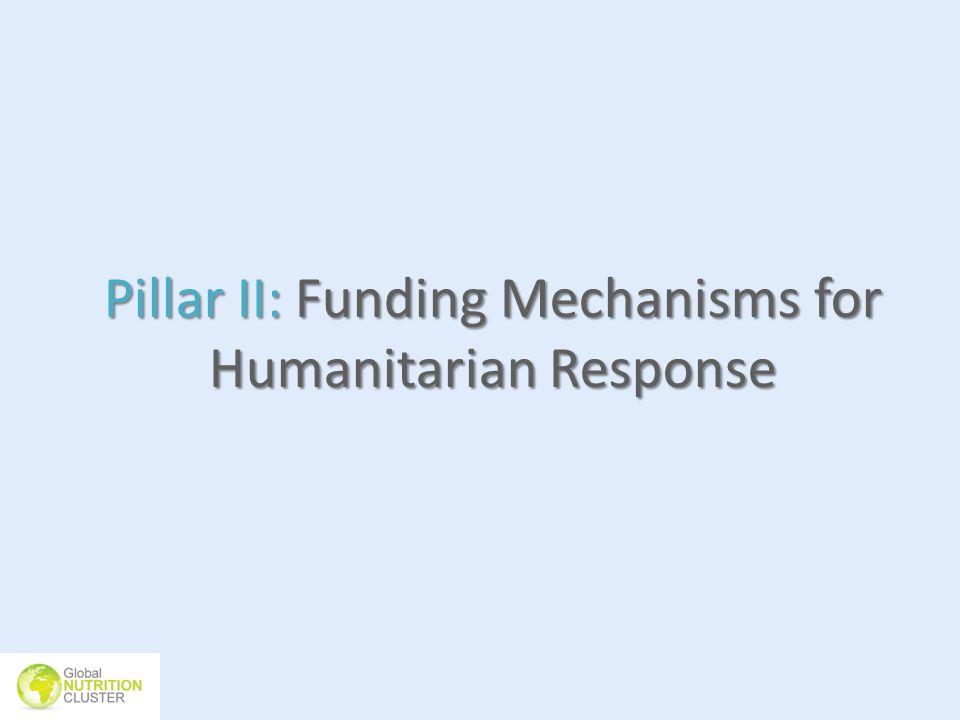 Pillar II: Funding Mechanisms for Humanitarian Response
