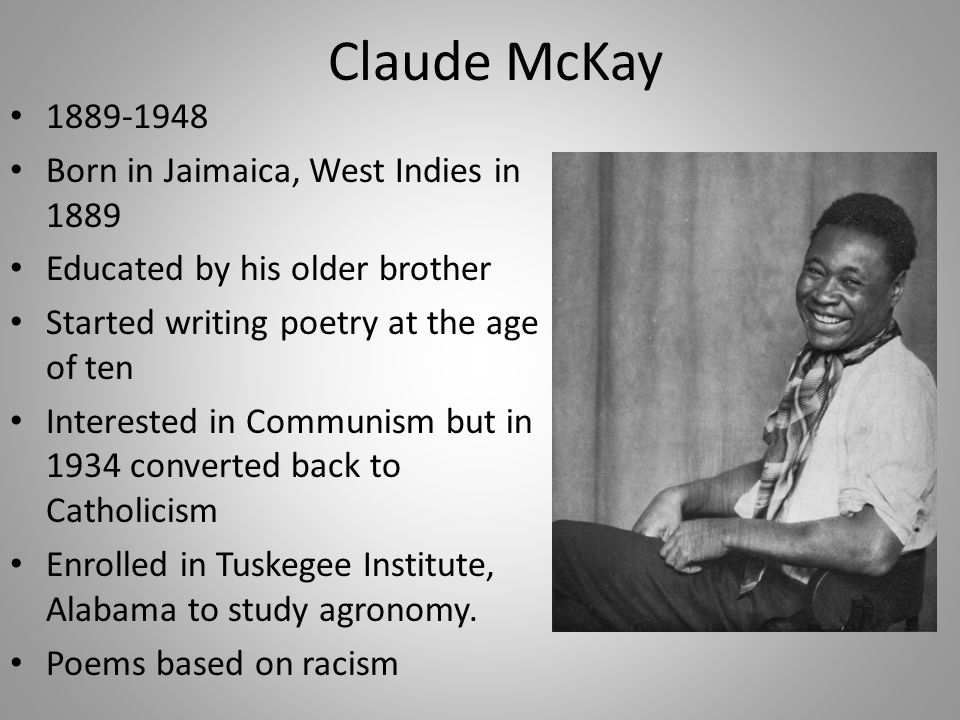claude mckay if we must die literary analysis An introduction to the theme of oppression in the many african-american literary analysis of claude mckay's poem if we must claude mckay's poem if we must die.