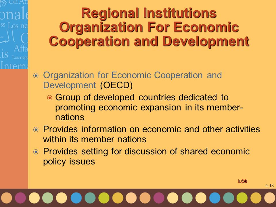 Regional Institutions Organization For Economic Cooperation and Development