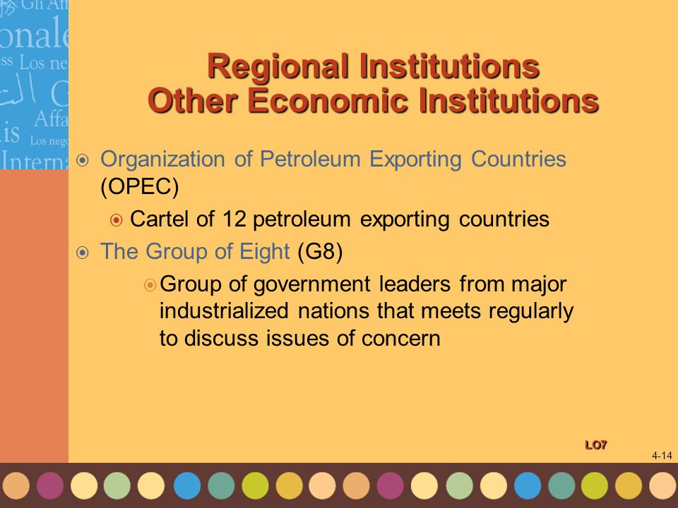 Regional Institutions Other Economic Institutions