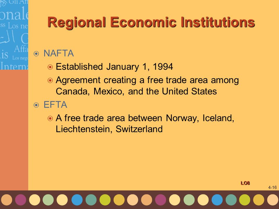 Regional Economic Institutions