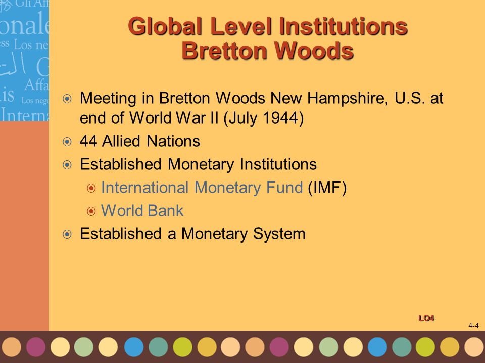 Global Level Institutions Bretton Woods