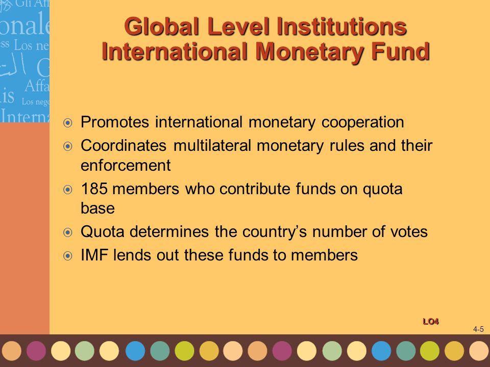 Global Level Institutions International Monetary Fund