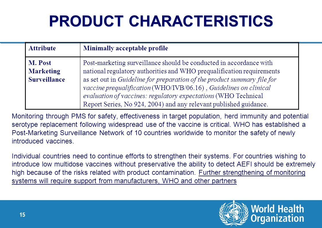PRODUCT CHARACTERISTICS