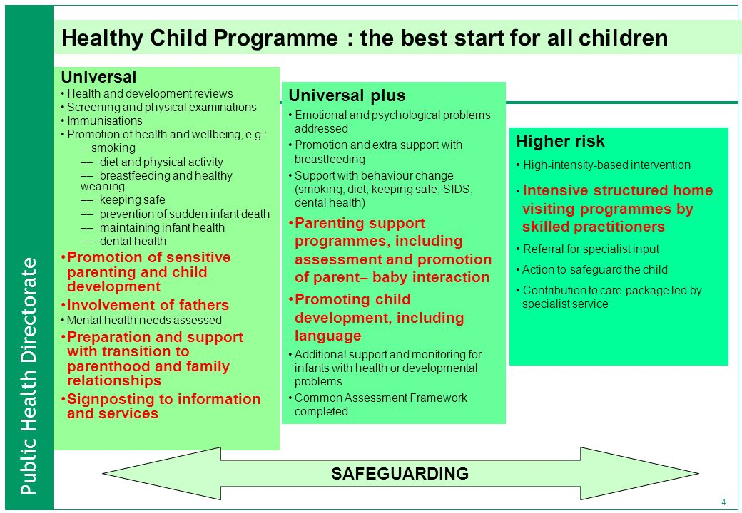 Healthy Child Programme : the best start for all children