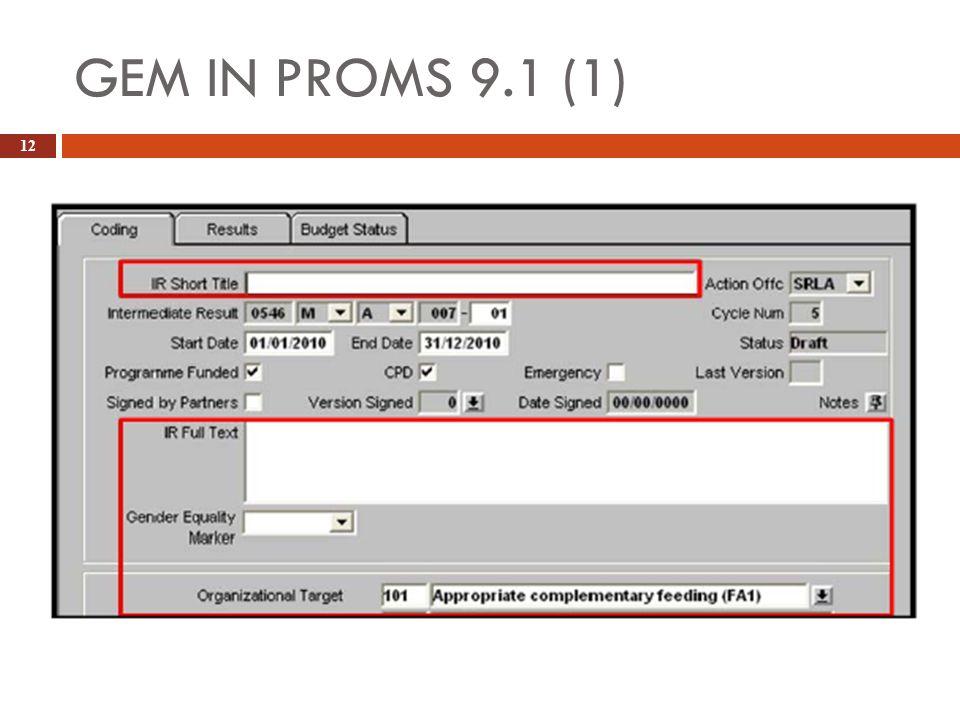 GEM IN PROMS 9.1 (1)