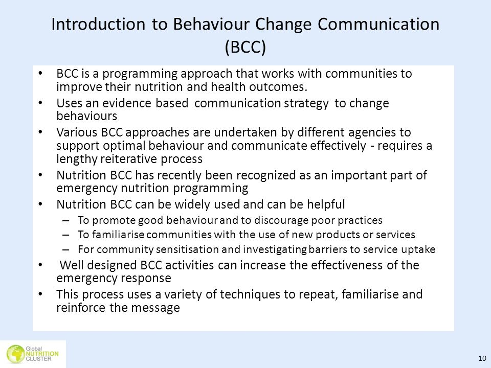 Introduction to Behaviour Change Communication (BCC)
